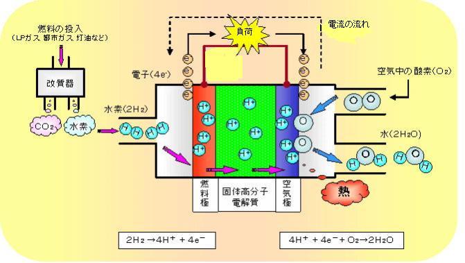 燃料電池原理図