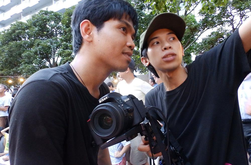 カメラ担当の撮影準備